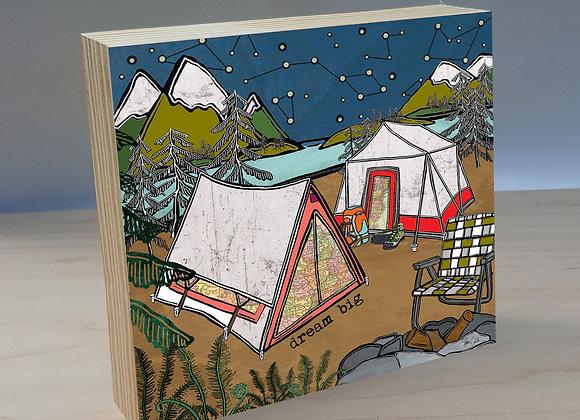 Dream Big  wood art panel