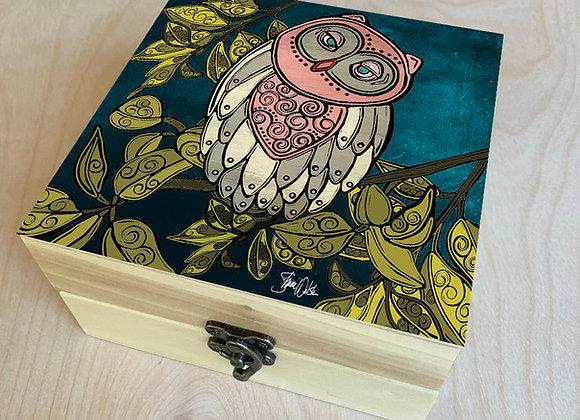 Owl Wood Box