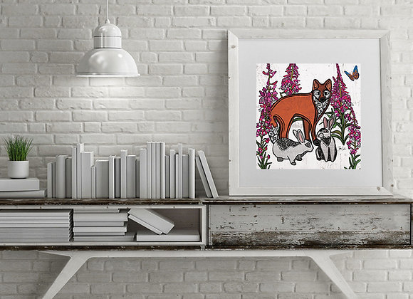 Fox & Rabbit 2 Print