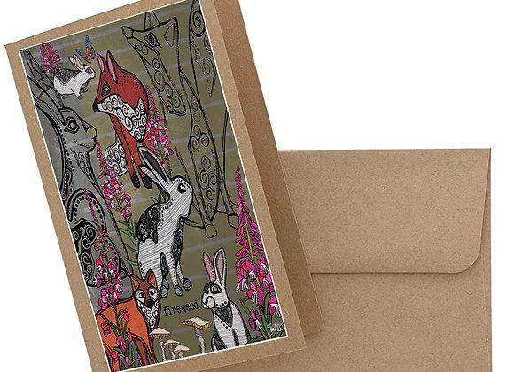 Fox & Rabbit Card