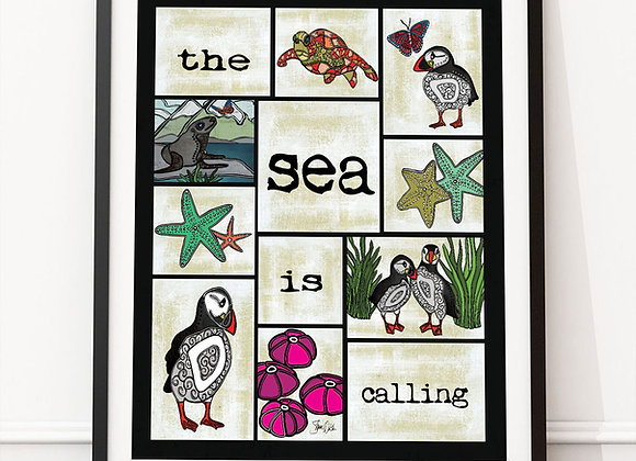 The Sea Is Calling Print