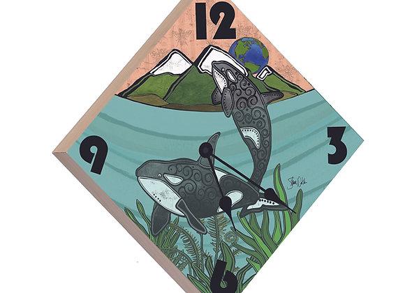 Orca Wood Panel Clock