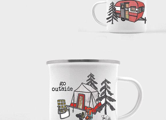 Go Outside Enamel Camp Mug