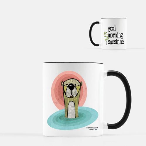 Otter Coffee Mug Good Morning Sunshine