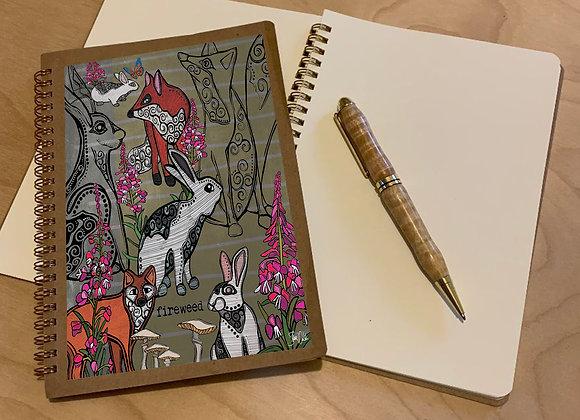 Fox & Rabbit Spiral Journal