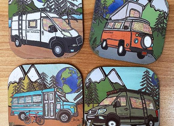 Vanlife Coaster Set