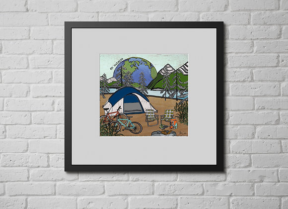 Go Outside Tent Camping Print