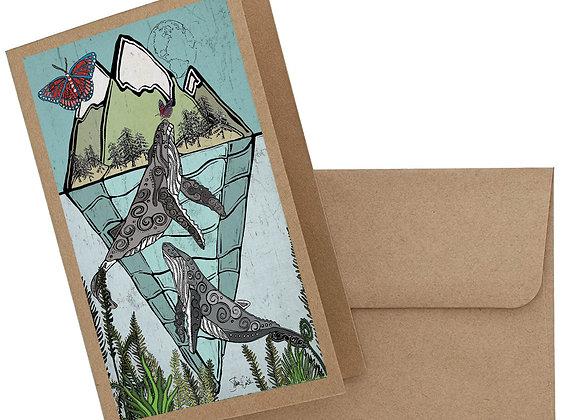 Whales & Butterflies Card