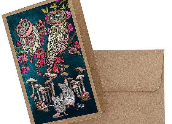 Owl & Mice Card