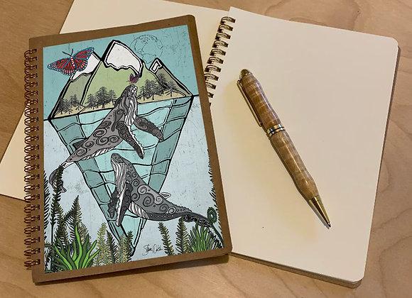 Whales & Butterflies Spiral Journal