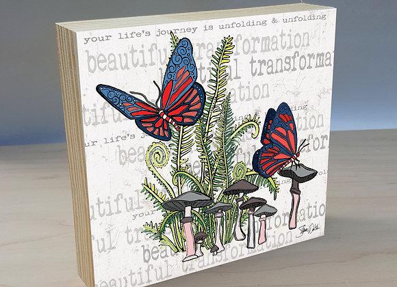 Beautiful Butterfly Wood Art Panel