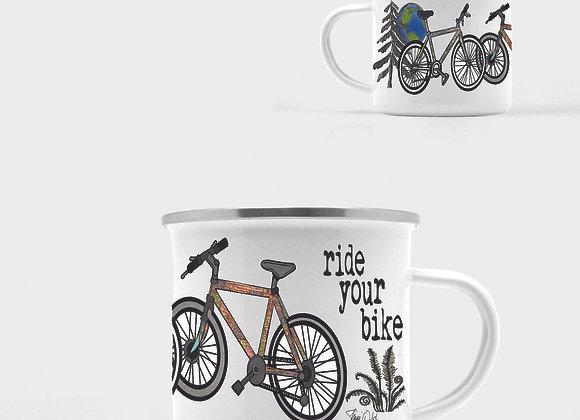 Ride Your Bike Enamel Camp Mug