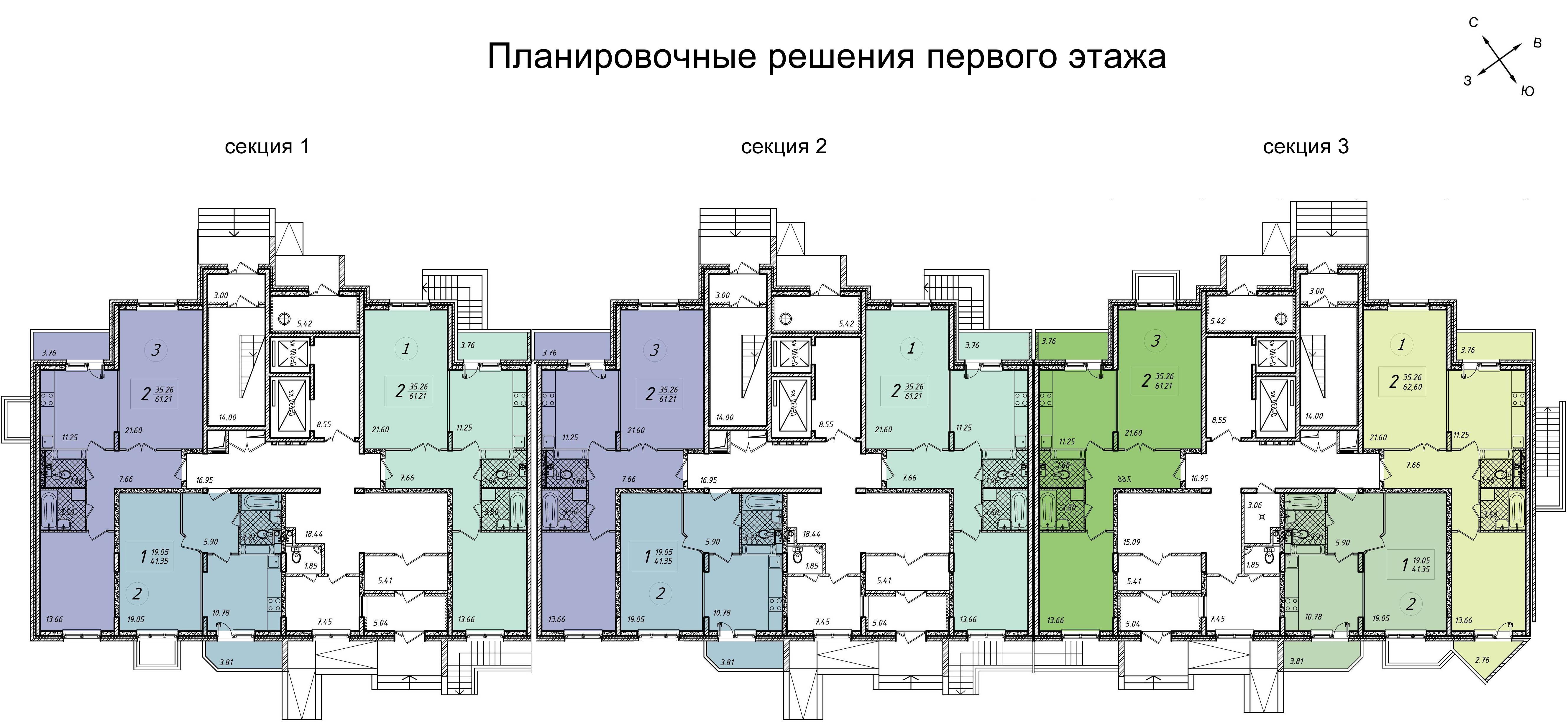 Планировочные решения первого этажа