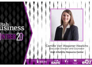 Executive Director Camille Hawkins is honored as one of Utah Business's 2017 20 in their 20's