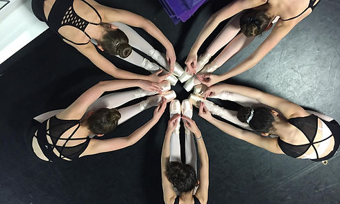 Dancer pointe shoe circle.JPG