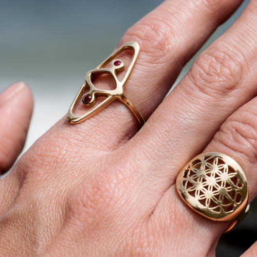 Relatively ETERNAL KNOT RING (Ruby) | Kelly Gail Jewelry | Handmade Jewelry RC62