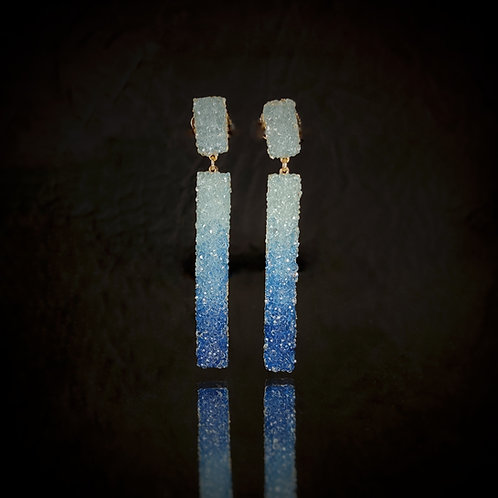 Pendiente cinta mediano / Medium earring suede