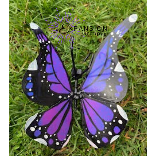 Monarch Butterfly Handmade Metal Art - 3 Color Options