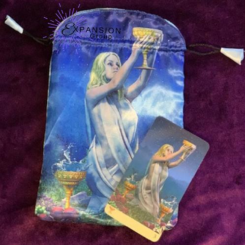 Vice Versa Tarot Satin Deck Bag