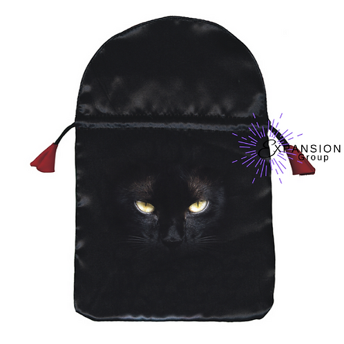 Black Cat Satin Deck Bag