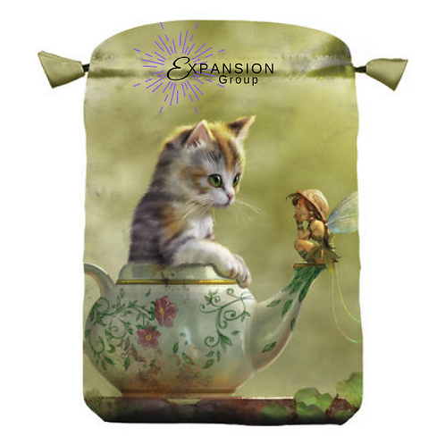 Fantasy Cat Satin Deck Bag
