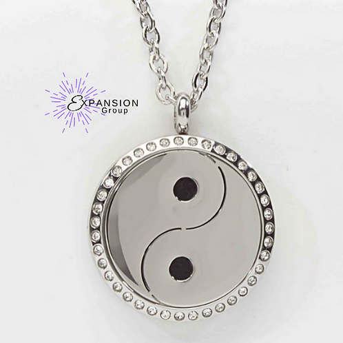Crystal Yin Yang Aromatherapy Necklace