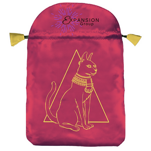 Egyptian Cat Satin Deck Bag - Embroidered