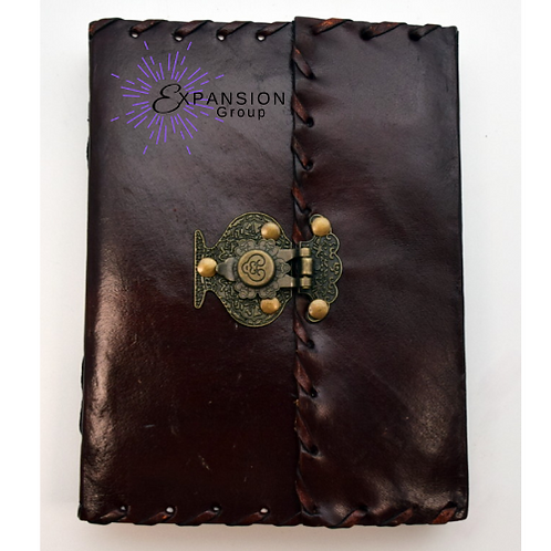 Leather Journal w/snap Metal Closure - 120 pgs