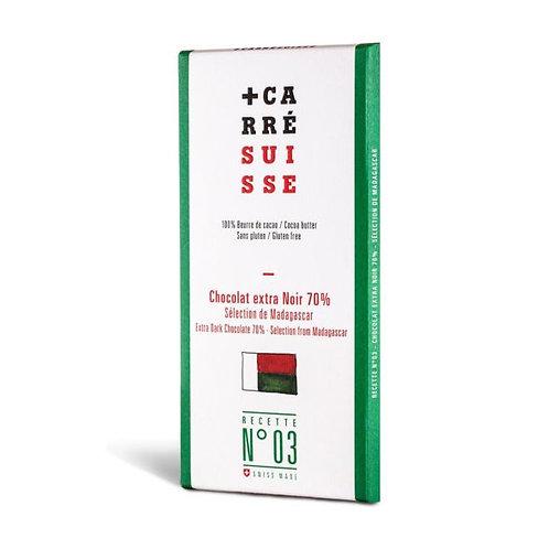 Chocolat extra noir 70% single origin Madagascar