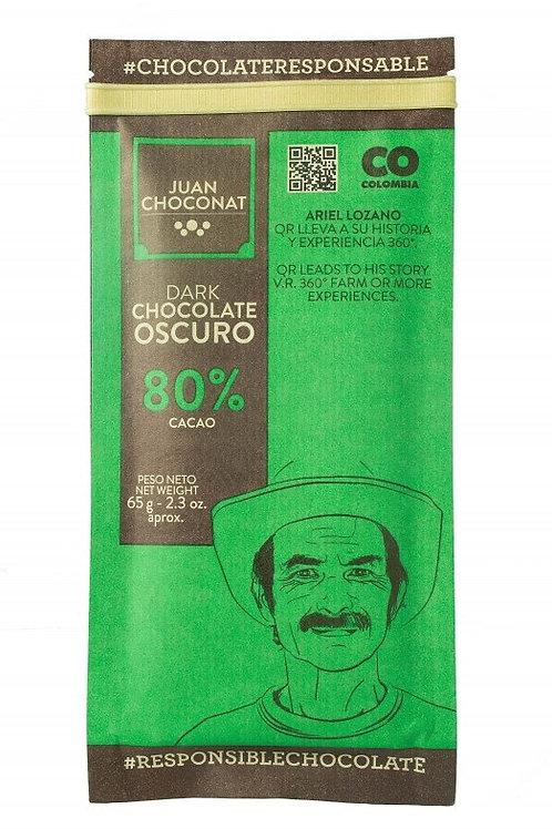 Chocolat noir Colombie 80% cacao