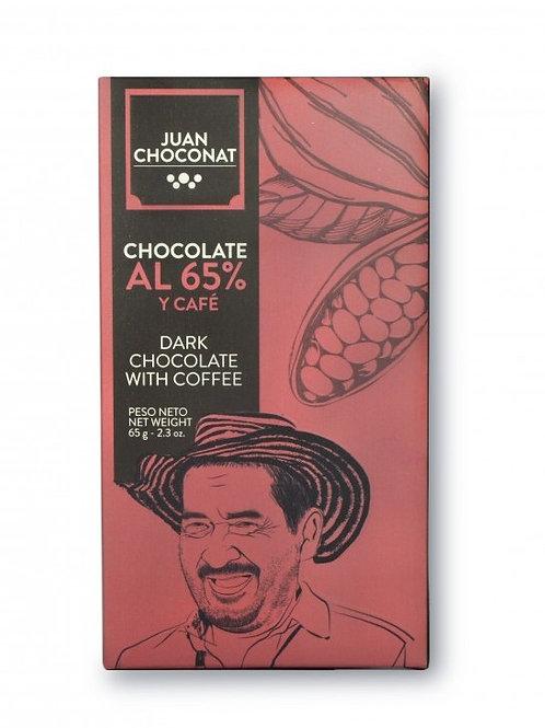 Chocolat noir Colombie 65% cacao au café de Colombie