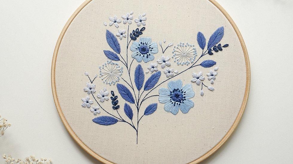 Blue Anemones - PDF pattern