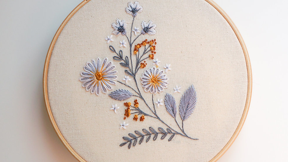 Silver Asters - PDF pattern