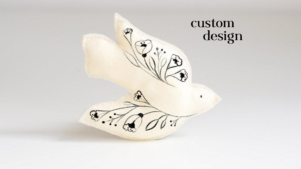 Custom Design - Bird Ornament