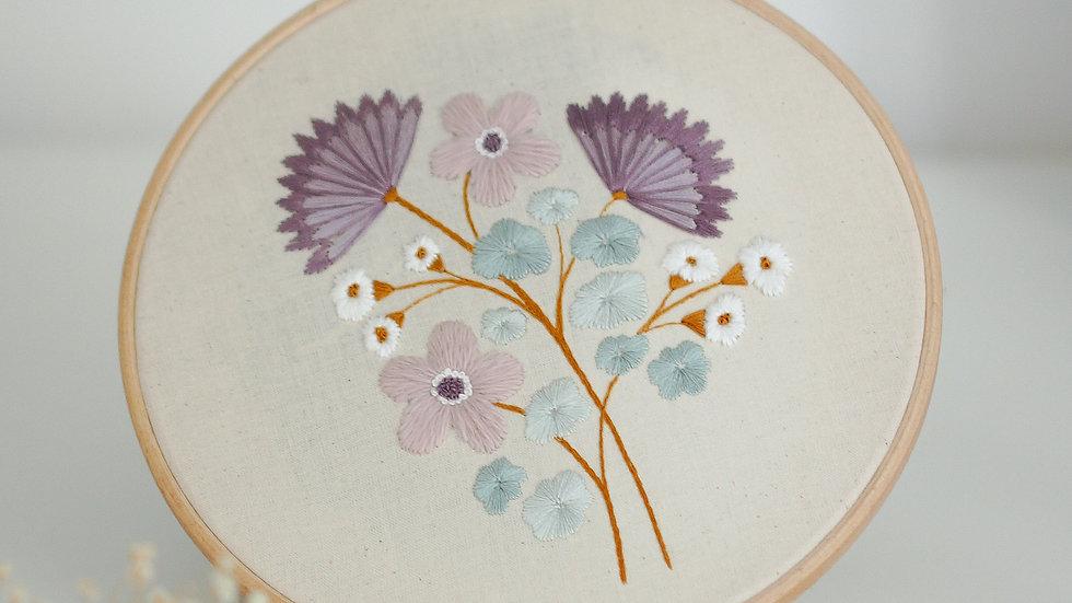 Lilac Posy - Original Hoop 8''