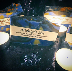 Mini Midnight Sky soaps as party favours