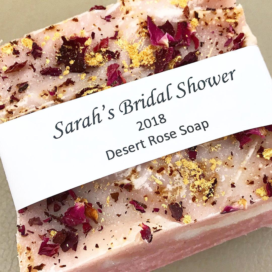 Custom Bridal Shower Rose Soap