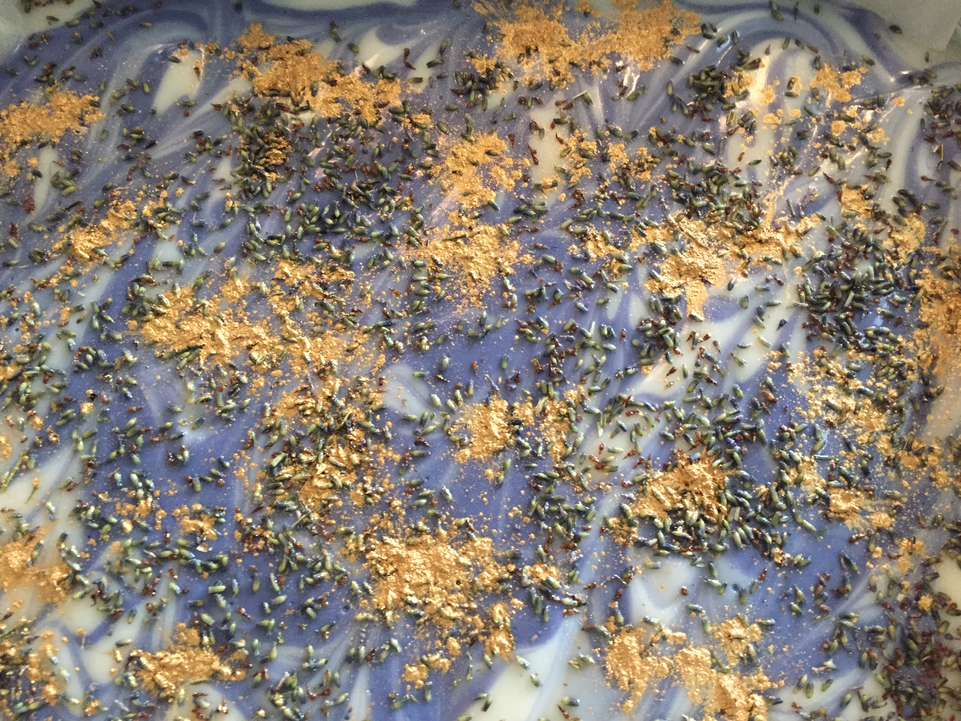 Beautiful custom gold lavender soap
