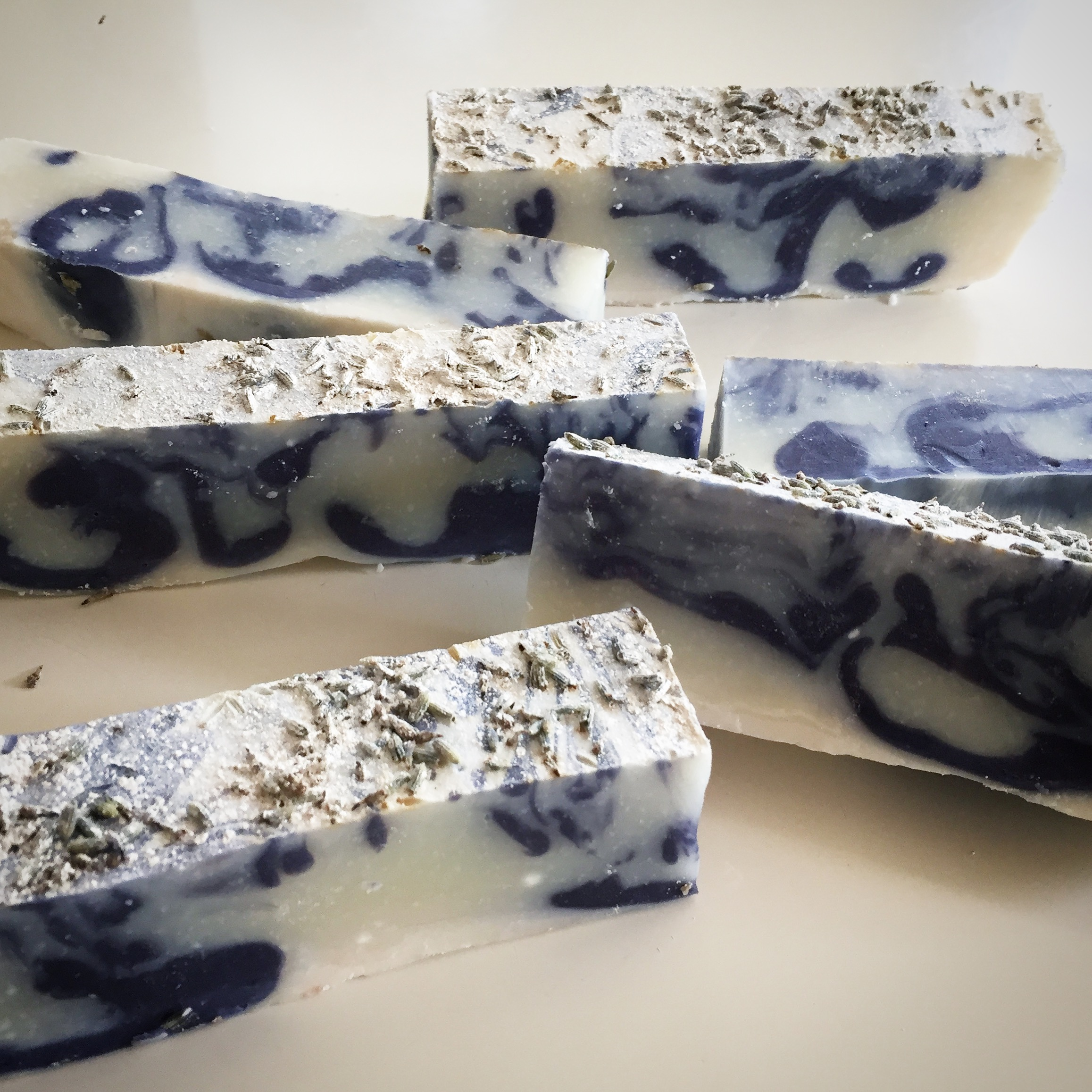 Custom Lavender Swirl soap