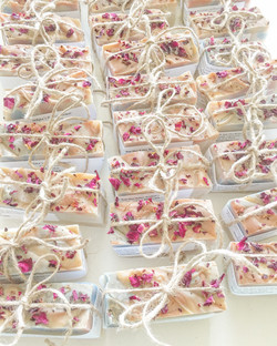 Mini bridal shower soaps