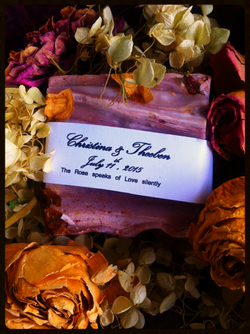 Rose Love wedding soap