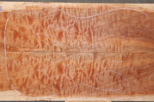 Quilted Maple Book matched Lumber #5111