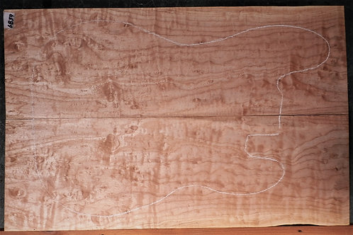 Figured Curly Maple 6859 Luthier Solid Body Guitar Top Set
