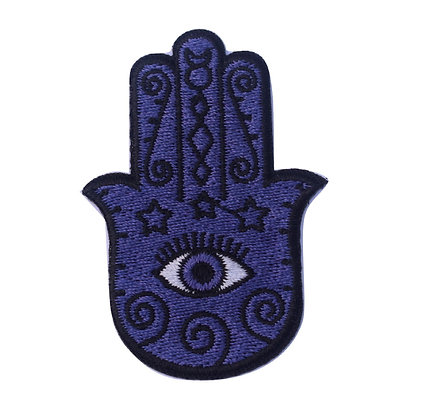 Purple Hamsa Symbol Iron on Patch