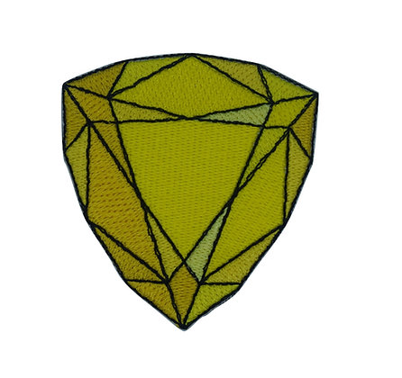 Yellow Jewel Iron on Patch