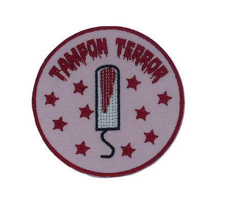 Tampon Terror Iron on Patch