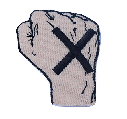 Straight Edge Fist Iron on Patch