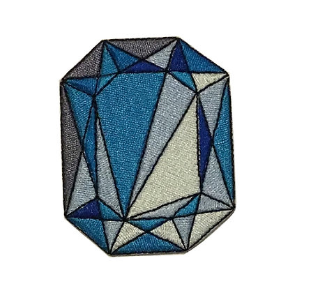 Blue Jewel Iron on Patch