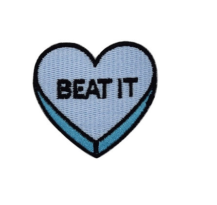 Beat It Heart Iron on Patch