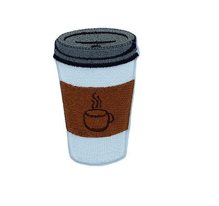Takeaway Coffee Cup Iron on Patch